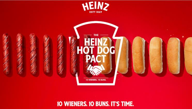 How Heinz Ketchup is pushing hot dog and bun companies to sell equal quantities