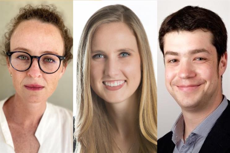 New roles (L to R): Libby Wyman, Megan Castilla and Tom Fern
