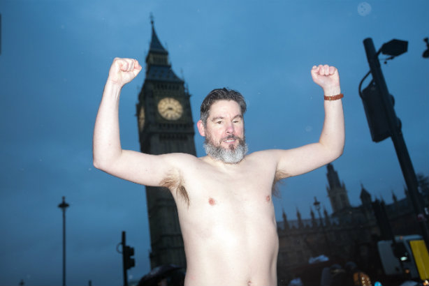 Telegraph hack's UKIP bet sees him streak through Westminster for charity (and Ladbrokes)