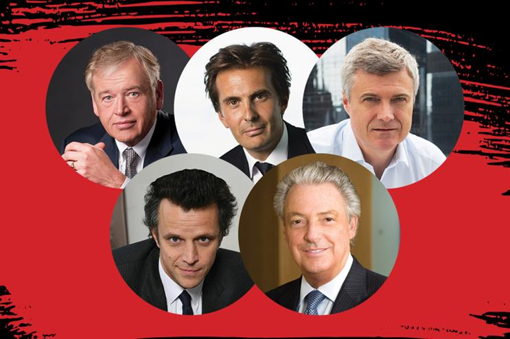 The five network agency horsemen of the coronavirus apocalypse: Wren, Bolloré, Read, Sadoun, Roth.