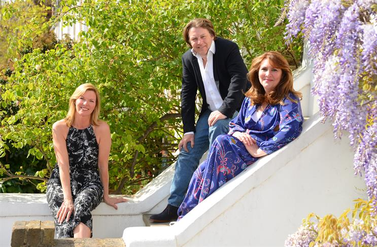 Hotwire's Tara O'Donnell (left) with MBA founders Mike Butler and Maeve McDonald