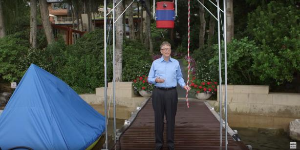 Bill Gates does the Ice Bucket Challenge in August 2014