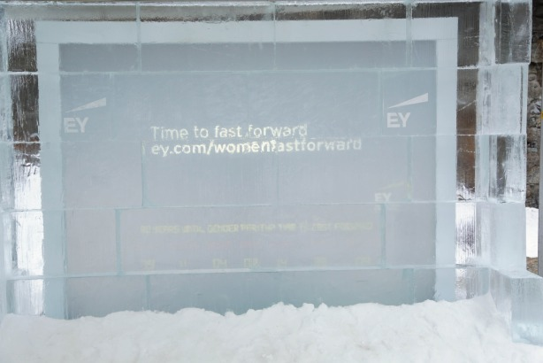 Freezing out gender inequality: The EY ice installation at Davos