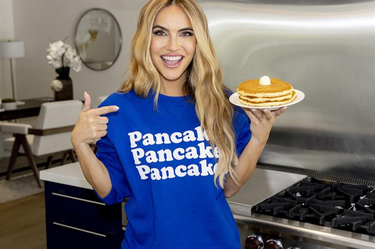 Selling Sunset star Chrishell Stause tweeted a video explaining why she needs pancake support.