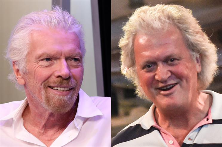 Richard Branson and Tim Martin (credit: Robin Marchant for SiriusXM/Peter Summers/Getty Images)