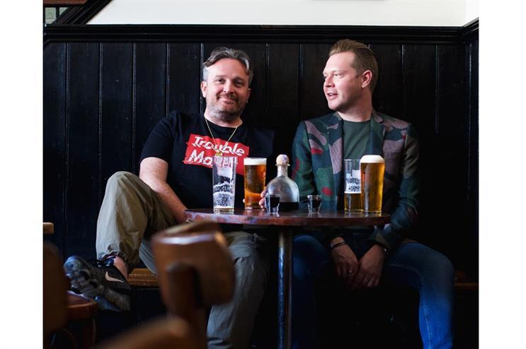 Steve Strickland (left) with fellow Talker Tailor Trouble Maker co-founder Gary Wheeldon