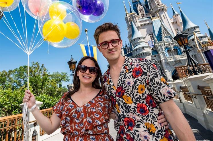 Giovanna and Tom Fletcher at Walt Disney World