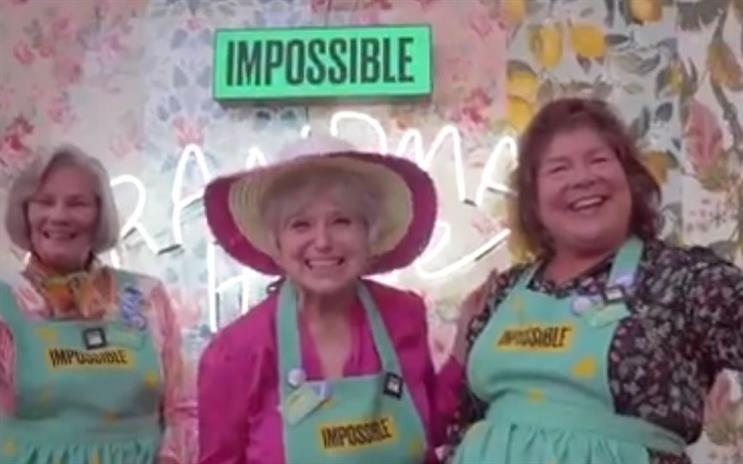 Grandmas help Impossible Burger with recipe for grocery store foray