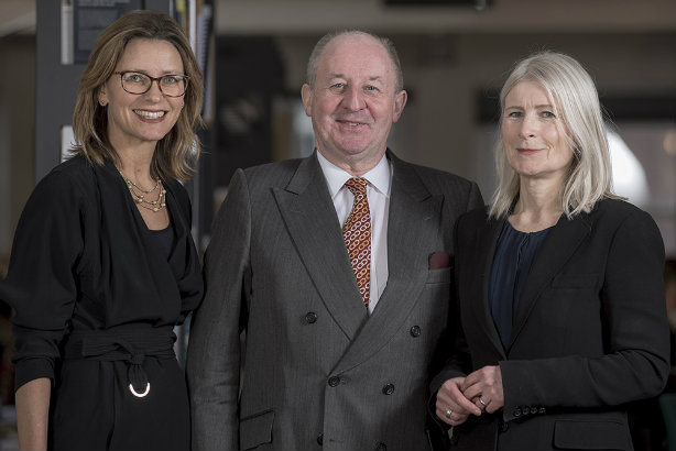 Tritton (l), ING chair Tony Danaher and Reekie