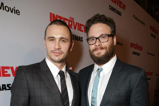 James Franco and Seth Rogen. Photo from The Interview's Facebook page.