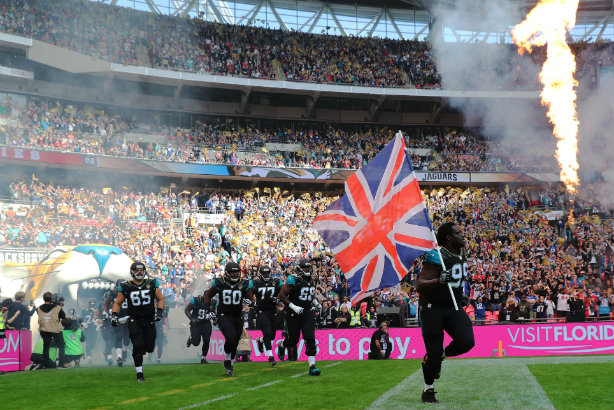 The Jaguars take to the Wembley turf for a 2016 game against the Colts