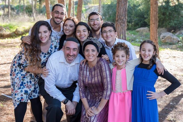Finn Partners' Go'el Jasper and family.