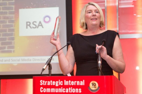 Jenny Burns: wins internal communications personality of the decade award