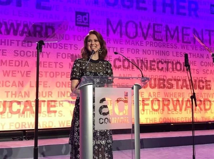 Actress Ellie Kemper hosted the Ad Council's Annual Public Service Award Dinner.