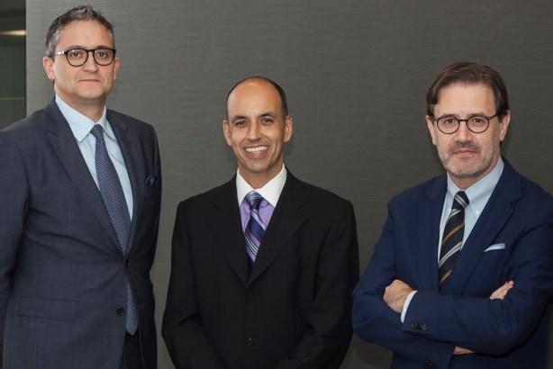 Llorente & Cuenca deal: (l to r) Alejandro Romero, Erich de la Fuente, José Antonio Llorente