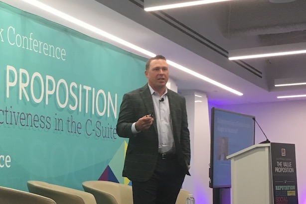 Arby's CMO Rob Lynch at the 2016 PRWeek Conference. (Photo credit: Diana Bradley).