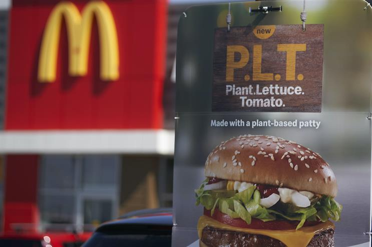 """McDonald's tested a plant-based burger in Ontario last year with more creative branding than """"McPlant."""" (Photo credit: Getty Images)."""