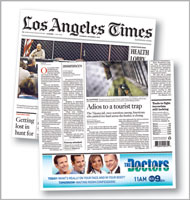 Print ad placement quickly becoming front-page news