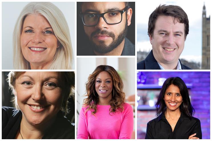 Among the mentors (clockwise from top left): Rachel Friend, Matt Brown, Paul Stephenson, Anouska Ruane, Effie Kanyua and Rachel Bell