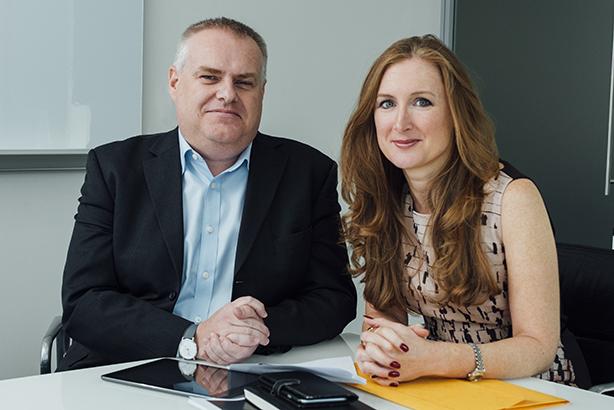 FleishmanHillard's Jim Donaldson and Fishburn's Ali Gee: Heading the newly merged operation