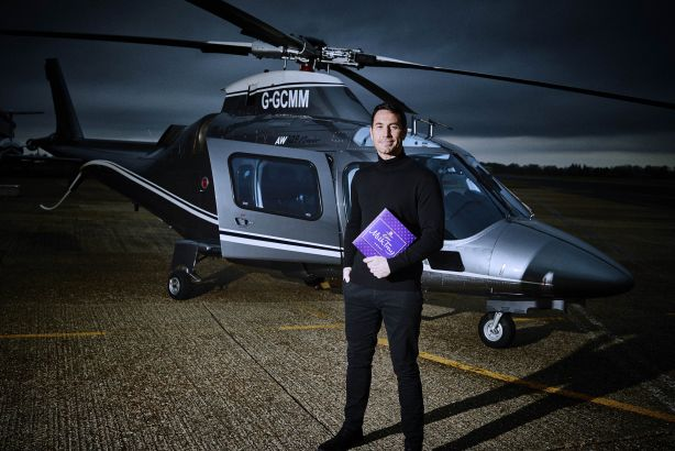 Firefighter Patrick McBride was revealed as the new Milk Tray Man this week