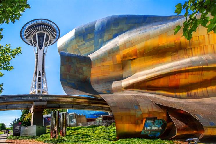 The Museum of Pop Culture in Seattle, part of the Vulcan empire. (Photo credit: Getty Images)