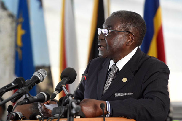 Controversial leader: Robert Mugabe in 2014 (credit: GovernmentZA on Flickr)