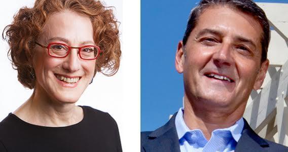 Ilene Adler (l) and Philip Nardone