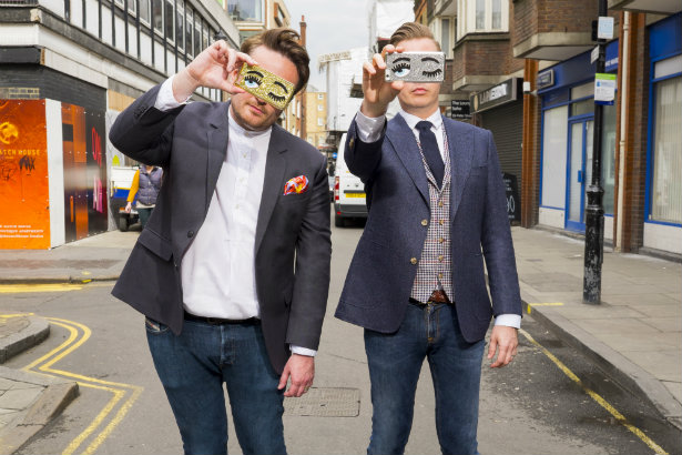 Launching own agency: Strickland (l) and Wheeldon