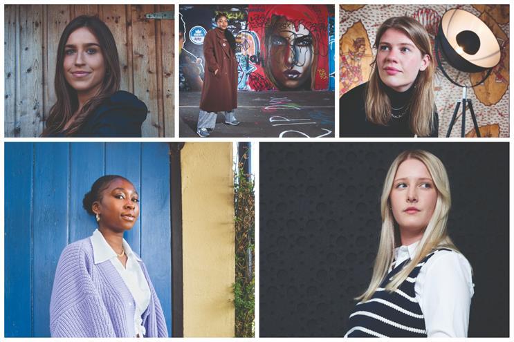 Clockwise from top left: Cora Bolger, Danielle Hilaire, Lydia Watt, Ellie Chatterton and Titilope Ogunnaike
