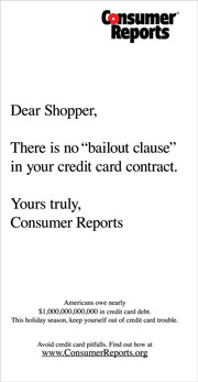 'Consumer Reports' push takes on credit card debt
