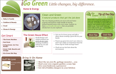 Holiday campaign touts iVillage's green message