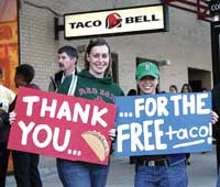 Public eats up free Taco Bell offering