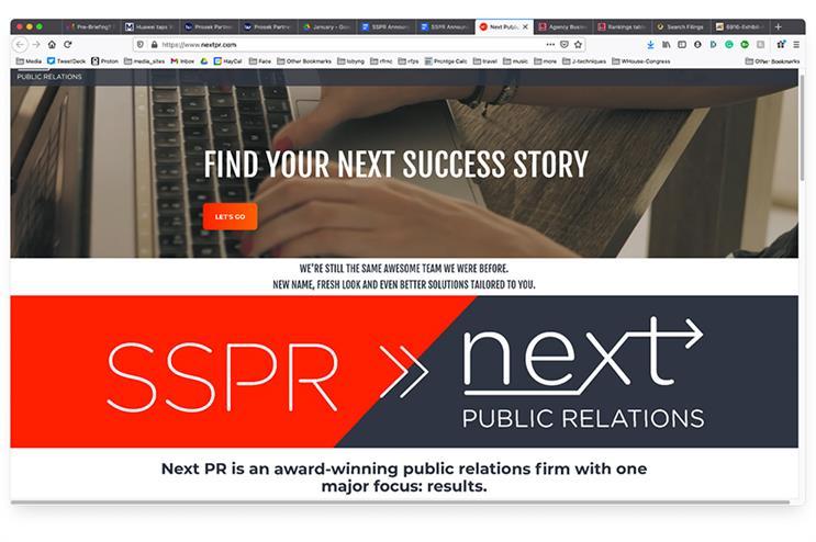 SSPR rebrands as Next PR