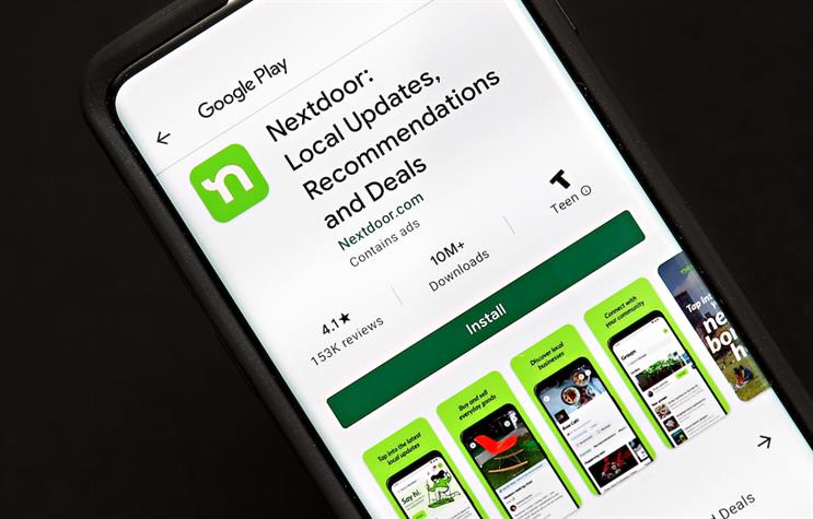 Nextdoor's number of daily active users increased by 50% in 2020. (Photo credit: Getty Images).
