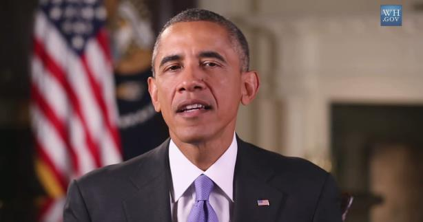 """The CDC posted a spot of President Barack Obama saying, """"We can't give in to fear."""""""