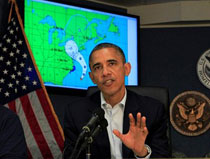 Sandy to make Obama, Romney walk tightrope
