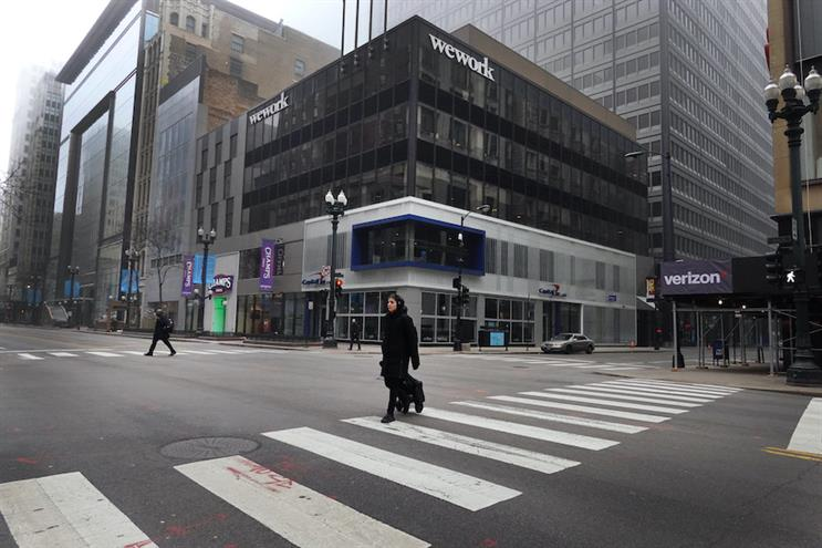Chicago's nearly deserted Loop. (Photo credit: Getty Images)