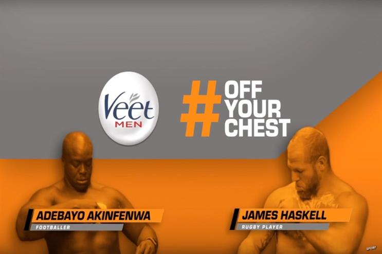Watch: Veet #OffYourChest campaign encourages male athletes to open up