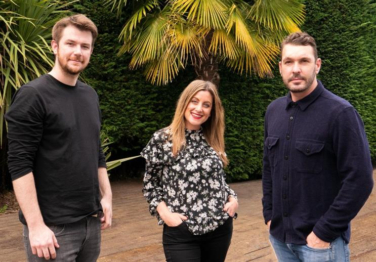 Team (left to right): content and post production manager Brad Nagle, creative director Jodie Woolfson and director and film-maker Adam Loveday-Brown