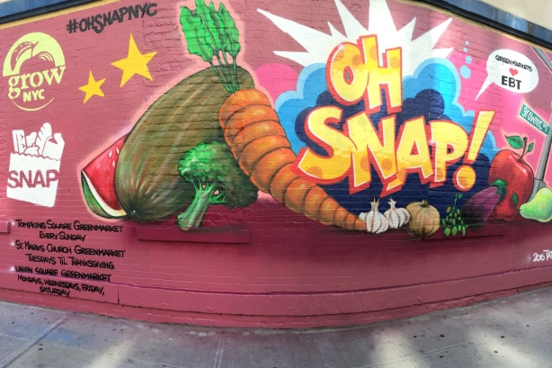 GrowNYC uses graffiti art to tell New Yorkers about SNAP