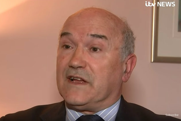 """""""Deeply ashamed"""": Oxfam CEO Mark Goldring was interviewed on ITV News"""