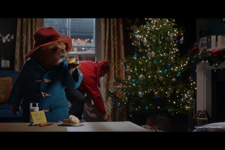 Paddington Bear stars in magical Christmas caper for Marks & Spencer