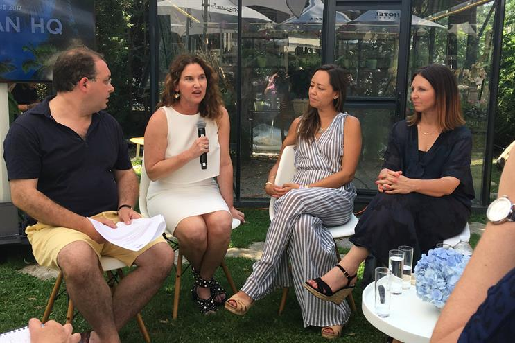 HP's Karen Kahn (second left) with Francis Ingham (ICCO), Rachel Holbrook (Airbnb) and Charlotte Witte (Prime)