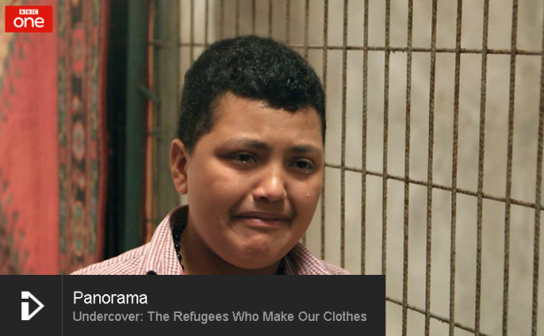 How have UK retailers responded to Panorama claims about Syrian refugee child workers?