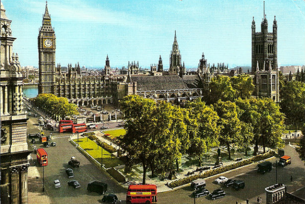 Yeomans crosses Parliament Square (above, as it was in the 1950s) later this month for a new role (Credit: Leonard Bentley on Flickr)