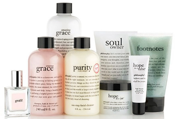 Philosophy is a luxury skin care brand.