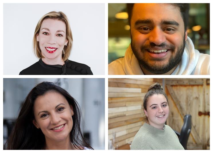 Clockwise from top left: Louise Stewart, Nikhil Saglani, Sadie Jones and Aceil Haddad
