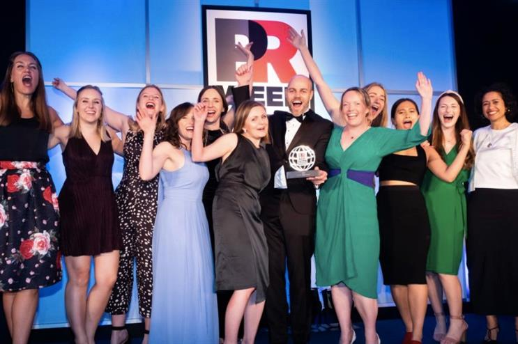 Winners: 90TEN team picking up their award for Best Agency in Europe at the 2019 Global Awards. Who will win big this year?