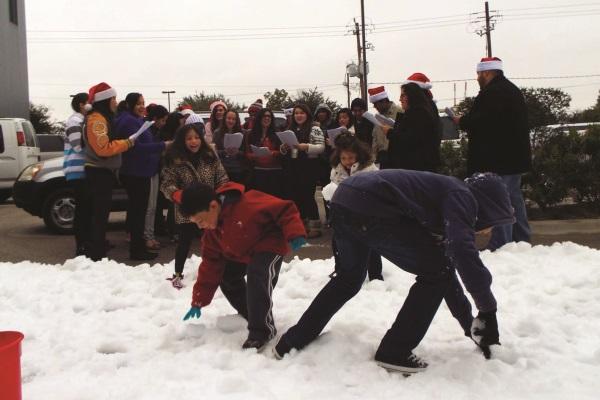 Pierpont creates winter wonderland in Texas